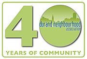 Durand 40th Anniversary Logo