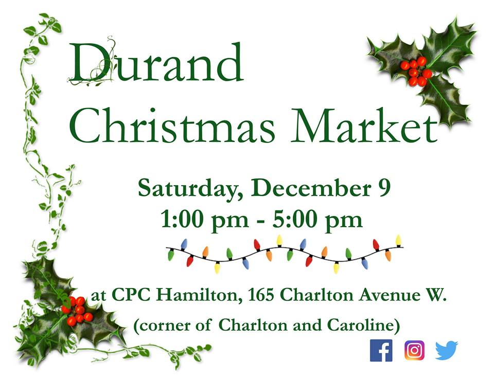 Hamilton Christmas Market.Upcoming Events And Good News For The Gore Durand