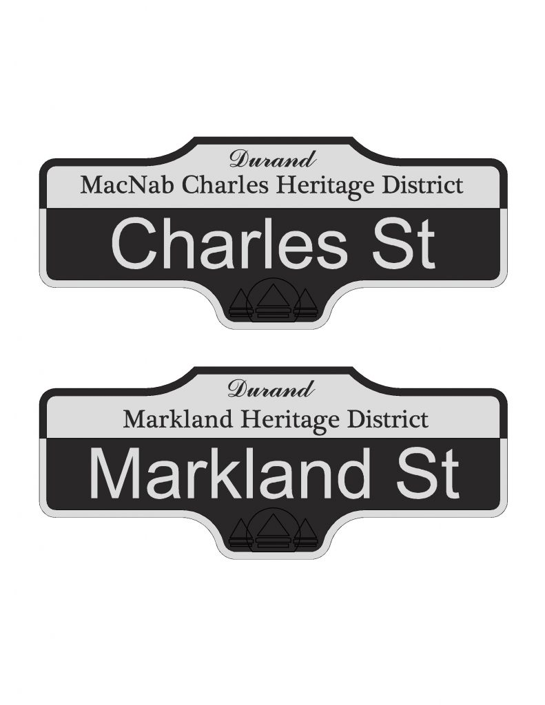 Heritage district street sign Model (2)