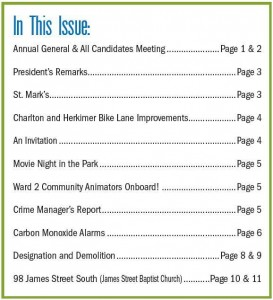 Table of Contents - Durand Winter Newsletter 2014