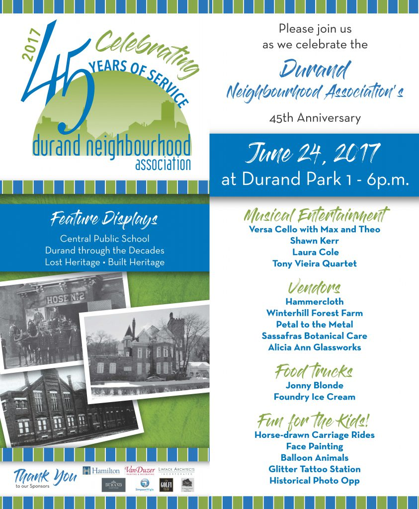 Durand 45th Anniversary Poster