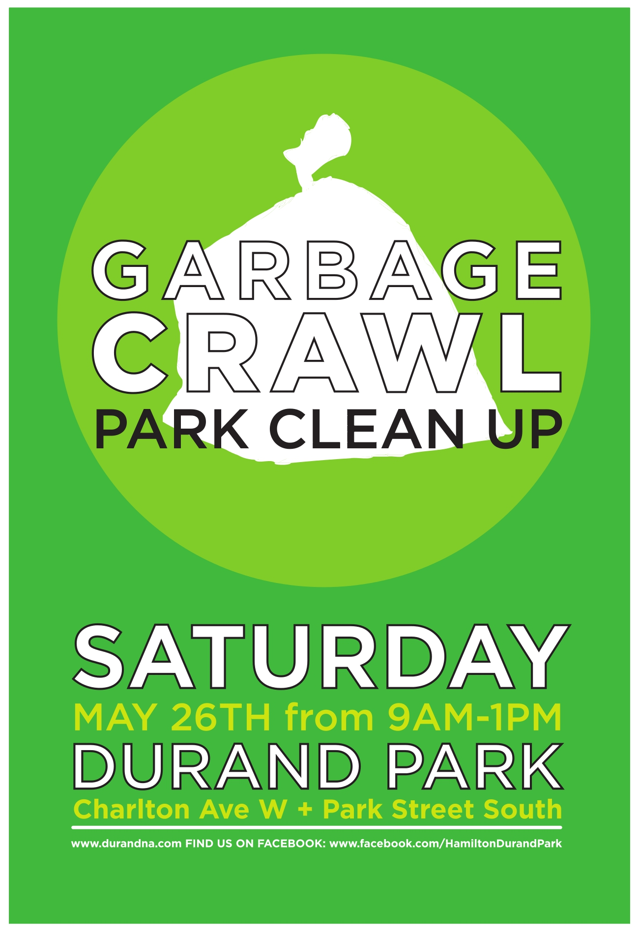 Durand Park Clean Up Poster
